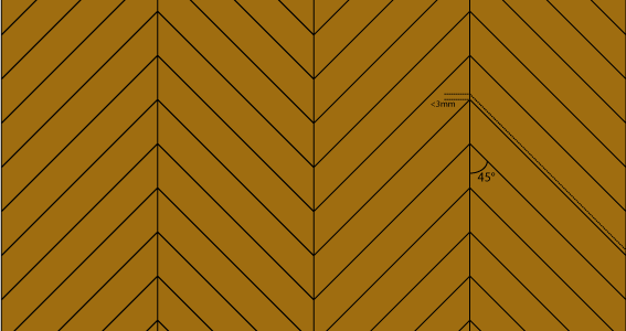les motifs de pose du parquet ii les parquets en zig zag. Black Bedroom Furniture Sets. Home Design Ideas