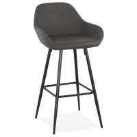 Tabouret de bar design ´louise´ gris