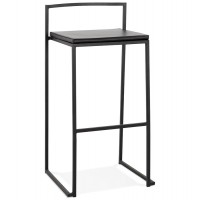 Tabouret de bar design ´casa´ noir style industriel empilable