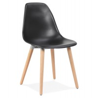 Chaise design scandinave ´gloria´ noire