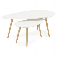 Tables gigognes design ´tetrys´ blanches