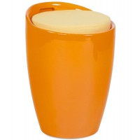 Tabouret coffre d´appoint ´gum´ orange