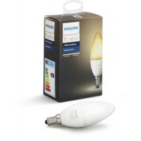 Ampoule connectable philips hue white & ambiance flamme e14