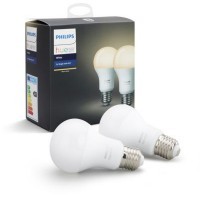 Ampoule connectable philips pack x2 e27 hue white