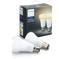 Ampoule connectable philips pack x2 b22 hue white & ambiance