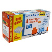 4 recharges absorbeur sekobag 150g + 1 boite