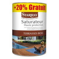 Saturateur haute protection terrasse starwax incolore 5l+1