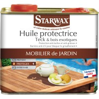 Huile protectrice teck et bois exotiques starwax 2l