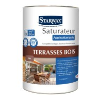 Saturateur starwax application facile phase aqueuse incolore teck 5l
