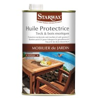 Huile protectrice teck et bois exotiques starwax 1l