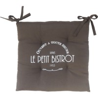 Lot de 4 assises de chaise bistrot anthracite