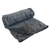 Plaid trio scintillant gris l.130 x l.170