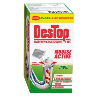 Entretien mousse active javel destop x8