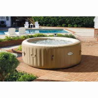 Spa gonflable intex pure spa rond beige