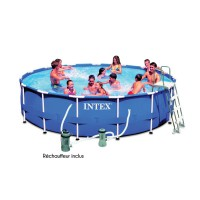 Piscine tubulaire ronde intex metal frame diamètre 4.57m