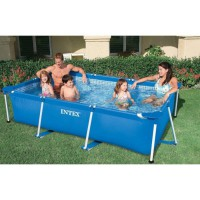 Piscine tubulaire rectangulaire intex 3,8m