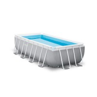 Piscine tubulaire rectangulaire intex prism frame 4mx2mx1m