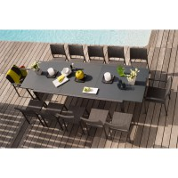 Table extensible oxford anthracite