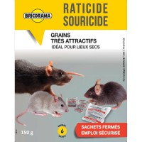 Raticide souricide grains bricorama 150g