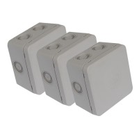 Boîtes de dérivation en saillie debflex Étanches ip54 85x85x50mm lot de 3
