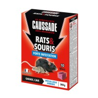 Anti-nuisible caussade blocs forte infestation rats & souris 300g