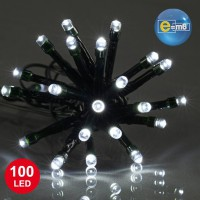 Guirlande 100led 5mm fv 4m blanc