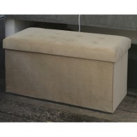 Banquette de rangement sissy rectangle beige