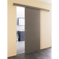Kit porte coulissante taupe
