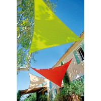 Voile d'ombrage triangle vert anis 3,6m
