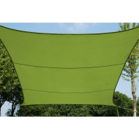 Voile d'ombrage carrée 5m 160gm2 anis