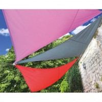 Voile d'ombrage triangle rouge 3,6m