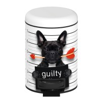 Poubelle pedale guilty dog 3 l wenko