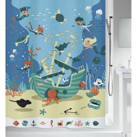 Rideau de douche spirella pirates multicolor