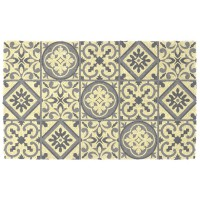 Paillasson carreaux de ciment beige 45x75cm