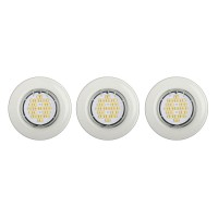 Lot de 3 spots encastrés led fixes blanc