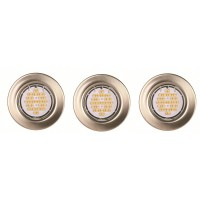 Lot de 3 spots encastrés led fixes acier