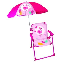 Chaise parasol flamingo fun house