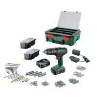Perceuse bosch universaldrill 18 2 batteries 1,5ah + systembox + 241 accessoires
