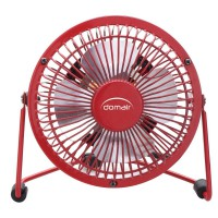 Mini-ventilateur usb domair diamètre 10cm rouge
