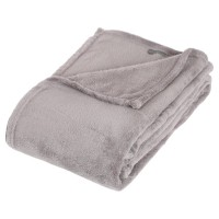 Plaid microfibre gris