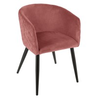 Fauteuil diner velours blush marlo
