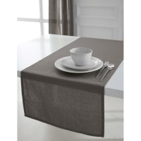 Chemin de table en coton tissé today l.50 x l.150 cm mastic