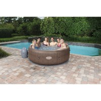 Spa gonflable rond bestway lay-z-spa ™ airjet™ st moritz 5/7 places