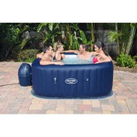 Spa gonflable carré bestway lay-z-spa ™ airjet™ hawaii 4/6 places