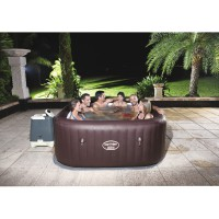 Spa gonflable carré bestway lay-z-spa ™ hydro-jet maldives 5/7 places