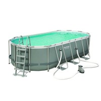 Piscine tubulaire bestway kit power steel frame ovale 549x274x122cm