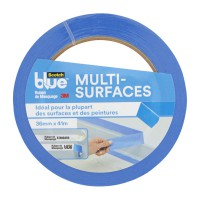 Ruban de masquage scotchblue™ multisurfaces bleu 41mx36mm pour peintre