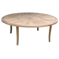 Table de jardin teck ronde 6 places d.180cm