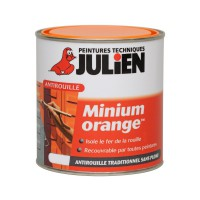 Sous-couche antirouille julien minium orange mat 0,25 l