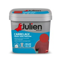 Peinture carrelage brillant julien rouge madras 0,75 l